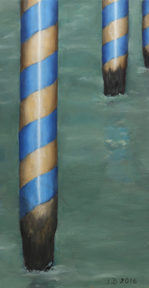 Blue Poles by Lisa Barmby
